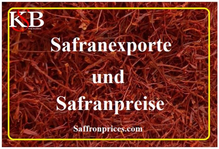 Safranexporte und Safranpreise